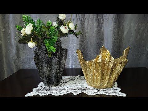 عندك فوط ومناديل مطبخ قديمة لا ترميها وحوليها الى مزهريات روعة Diy Cement Planter Youtube Broken Mirror Diy Mirror Wall Art Cement Crafts