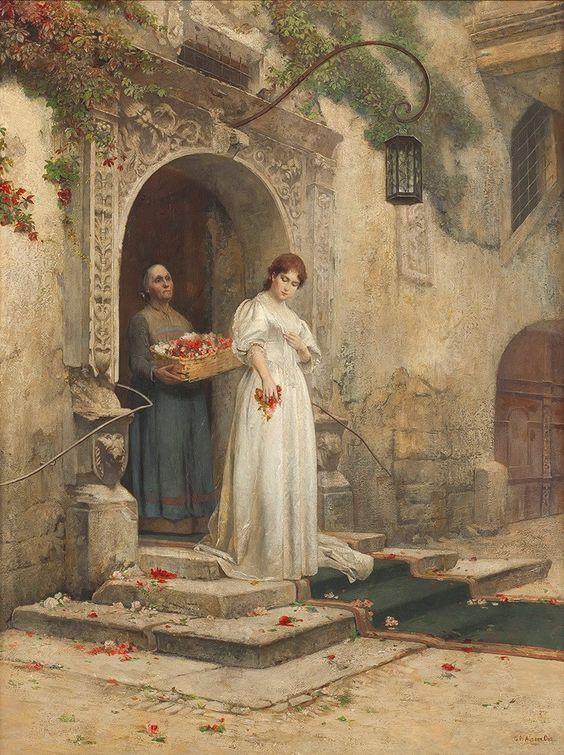 Bride on the Courtyard, 1897, Aus Gustav der Ohe.