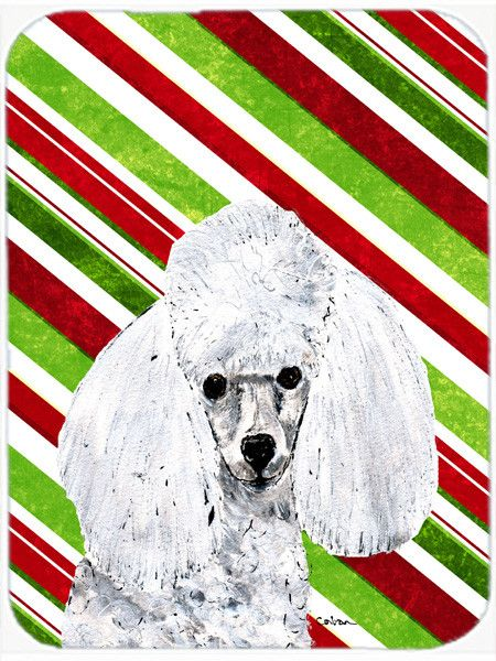 White Toy Poodle Candy Cane Christmas Mouse Pad, Hot Pad or Trivet SC9797MP