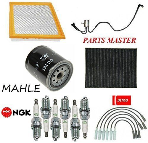 Tune Up Kit Air Cabin Oil Fuel Filters Wire Spark Plug For Dodge