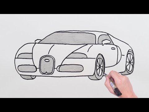 How To Draw Bugatti Sports Luxury Car Easy Drawing Cars Basit Bugatti Spor Araba Cizimi Youtube In 2020 Bugatti Easy Drawings Hot Rods Cars Muscle