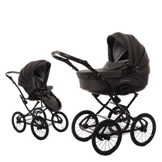 Kombi Kinderwagen Classico Exklusiv Melange Grau Knorr Baby Kinderwagen Kinder Wagen