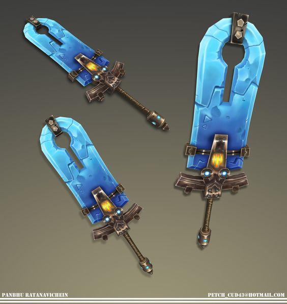 ArtStation - Stylized Sword: Wildstar Fanart., Panbhu Ratanavichein