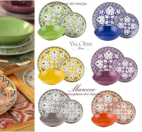 Villa d este servizio di piatti marocco 18pz 6 persone - Servizio piatti design ...