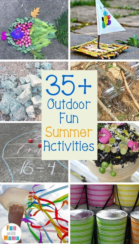 Outdoor Fun Summer Activities for Kids to Do. Here are some great ways to keep the kids outside during the summer and keep them busy.
