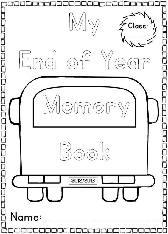 end of year memory book end of the year memory book and activities k 1 unit 6533