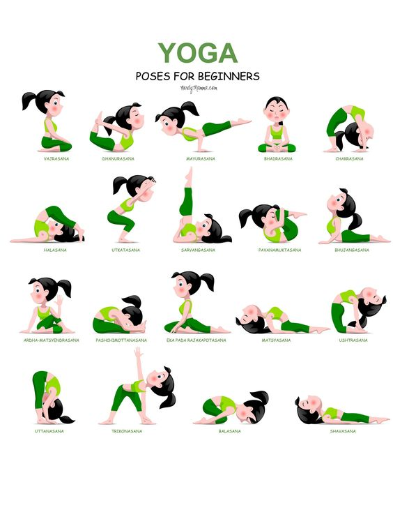 20 Easy Yoga Poses for Beginners with a Free Printable