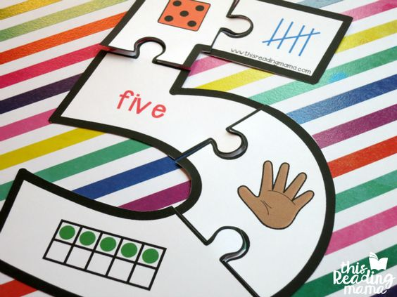 These free printable number puzzles for 1-10 can help kids see how numbers can be represented in a variety of ways. Plus, they are naturally self-checking! <3