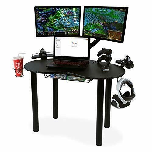 Stupendous Gaming Desk Space Saver Carbon Fiber Desktop Table Caraccident5 Cool Chair Designs And Ideas Caraccident5Info