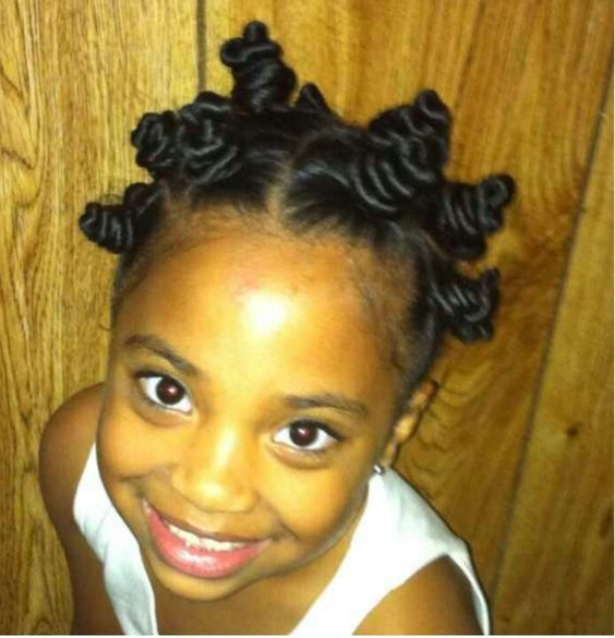 Fantastic Bantu Knots On Natural Hair Gorgeous Little Girl Natural Kids Short Hairstyles For Black Women Fulllsitofus