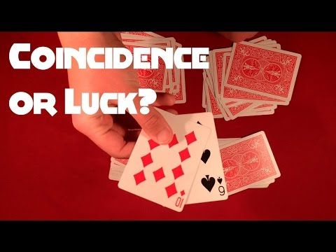 Coincidence Or Luck Card Trick Card Tricks Easy Card Tricks Simple Cards