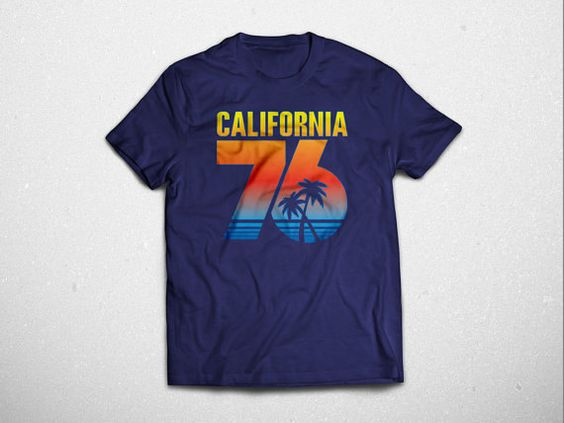 MENS 76' California T-Shirt by babbletees on Etsy