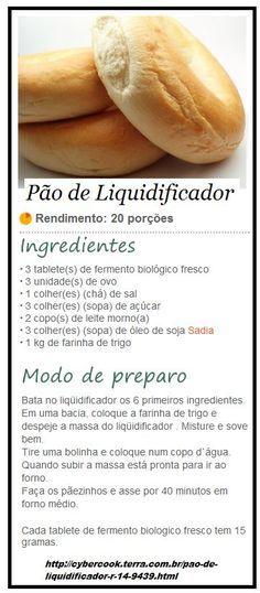 Pão de Liquidificador: