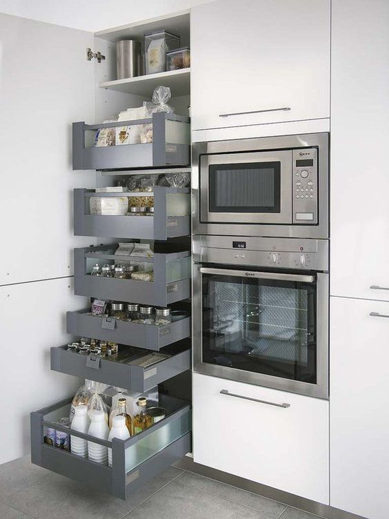 Una buena idea para tener la cocina ordenada                                                                                                                                                                                 Más #small #kitchen #ideas