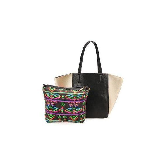 Yoins Yoins Color Block Tote Bag (105 BAM) ❤ liked on Polyvore featuring bags, handbags, tote bags, tote bag purse, handbags totes, tote hand bags, colorblock handbags and handbags tote bags