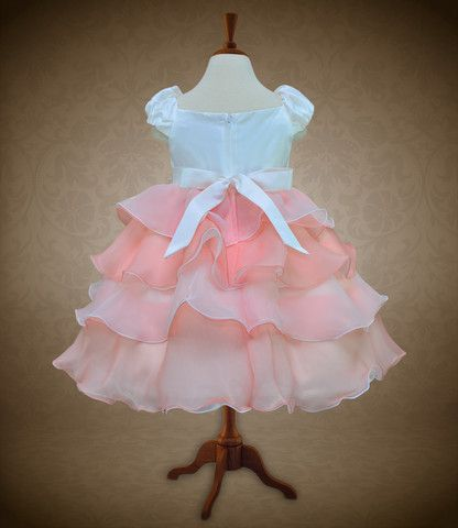 Tiered Dress with Puffed Sleeves