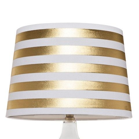 lamp shades gold stripes and lamps on pinterest. Black Bedroom Furniture Sets. Home Design Ideas