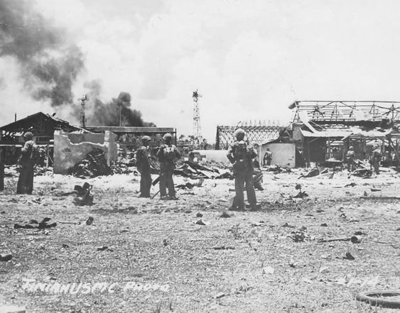 US Marines Battle of Tinian 1944 Mariana Islands campaign