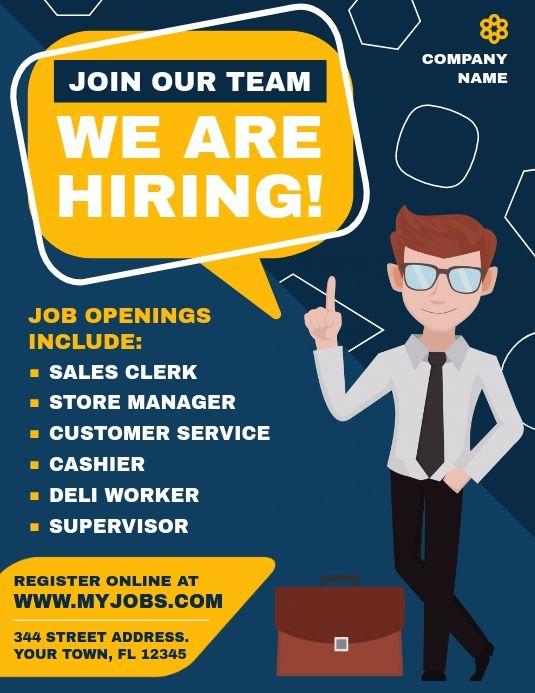 Hiring Ads Recruitment Poster Design Job Poster Hiring Poster