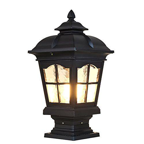 Cgjdzmd Pillar Lamp European Style Simplicity Waterproof Post Lights Lamp Outdoor Lighting
