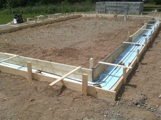 Slab foundation design and earth sheltered homes on pinterest for Concrete slab homes