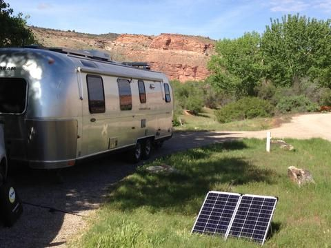 Folding Solar Panel Kit 120 Watt Airstream Ideas Solar Energy Best Solar Panels Solar Roof