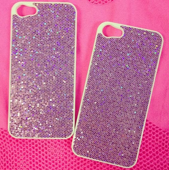 Pink case with sparkles