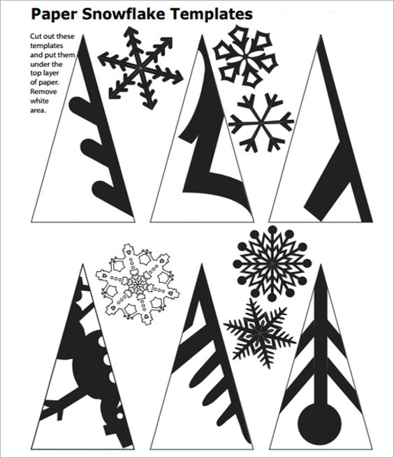 snowflake template to cut out: