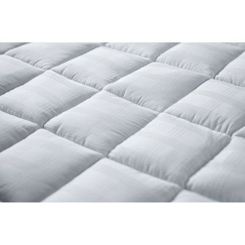 Cuddle Bed 400tc 2 5 Inch Cotton Mattress Topper In Neutral Bed Linen Best Mattress Mattress Topper