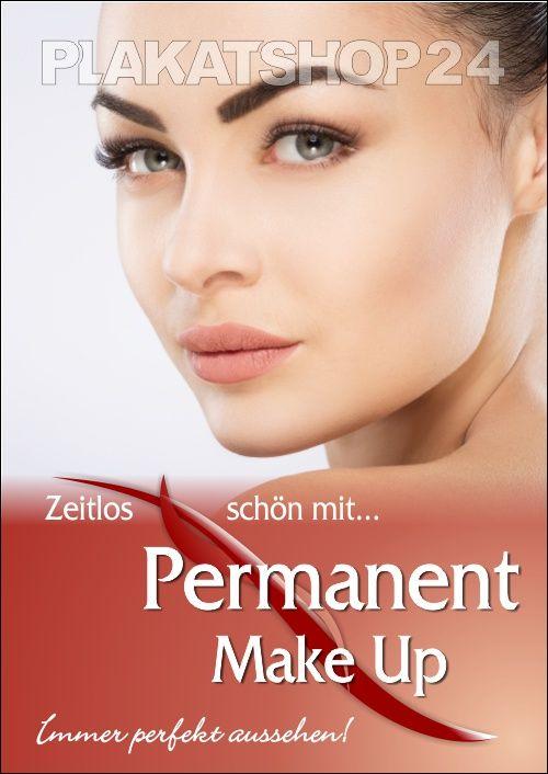 Poster Fur Permanent Make Up Werbung Make Up Kosmetik Reife Haut