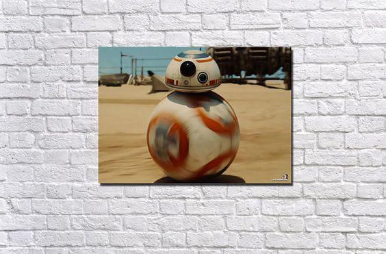 BB-8 20x16 Canvas Print by GlitchedMotionArt on Etsy