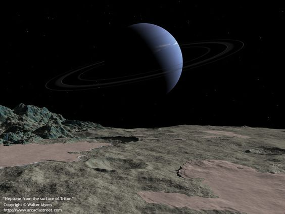 Neptune from the surface of Triton