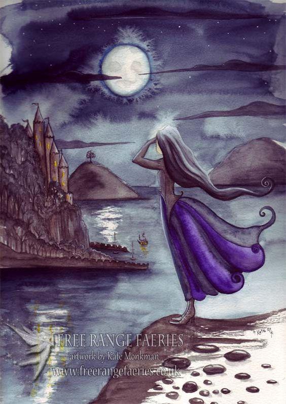 Smugglers Cove Mini Print/Faerie Print/Fairy Art/Gothic/Magical/Fantasy/Faerie art/Shipwreck/Moonlit/Romantic/ Art Print by Freerangefaeries on Etsy