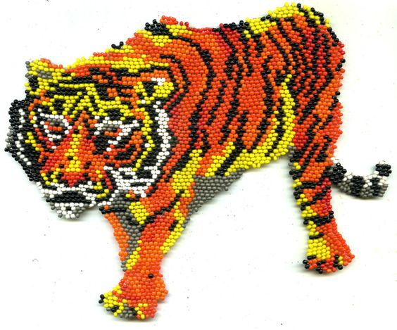 Beaded Tiger Pattern | Bead-Patterns.com