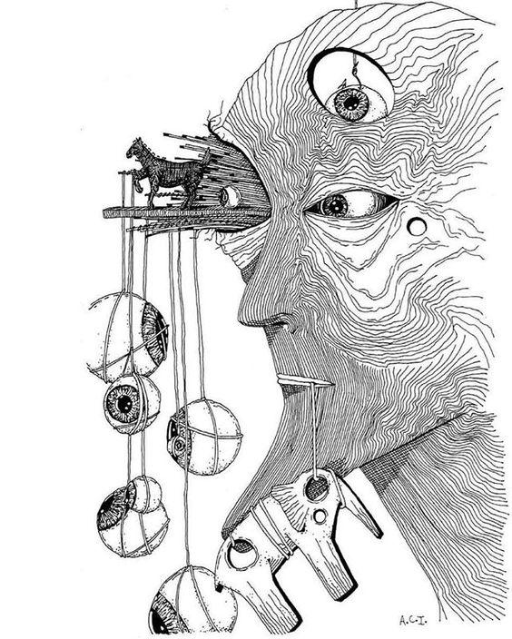 """Ilustración de @a_cartu """"Y verá el mundo que tiene contigo más fuerza la razón que el apetito."""" - Miguel de Cervantes Saavedra #30dibujos30días #ilustración #illustration #art #arte #cultura #CulturaColectiva"""