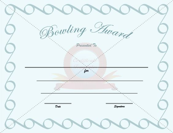 Bowling award template bowling award templates pinterest bowling award template bowling award templates pinterest bowling and certificate templates yelopaper Image collections