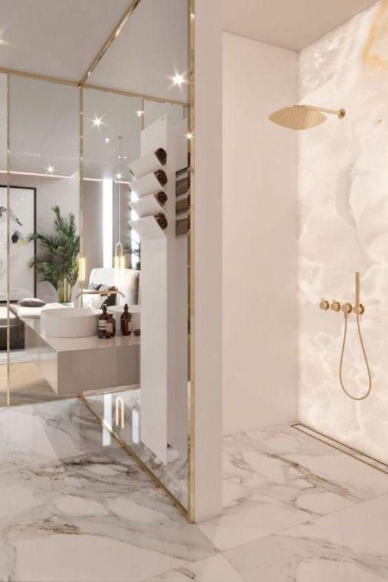 Perfect Marble Details And Ideas For Bathroom Designs Luxury Bathroom Master Baths Bathroom Interior Design Modern Master Bathroom