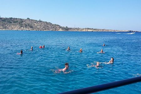 Located on the Board Walk towards Protaras 50 metres along from the water sports Shirley Valentine Boat Trips offers probably the best traditional family boat trip in the area.