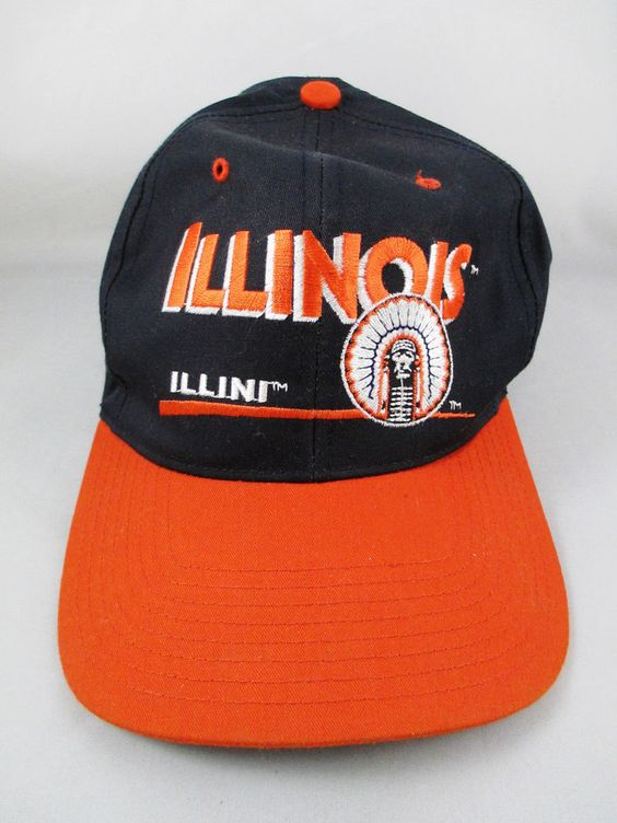 Illinois Baseball Cap - Fighting Illini - Orange Black with Adjustable Snap Back #TwinsEnterprise #BaseballCap  www.stores.eBay.com/variety-on-a-budget www.amazon.com/shops/Variety-on-a-Budget www.bonanza.com/booths/VarietyonaBudget www.facebook.com/VarietyonaBudgetOnlineShopping