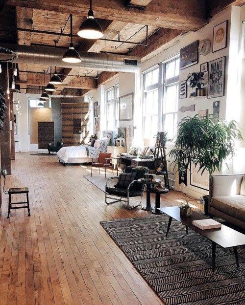 modern wohnzimmer in holz und leder. inspiration zu deko haus http