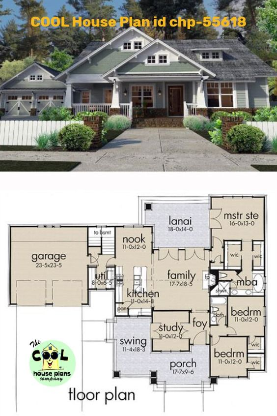 Craftsman Style House Plan 75137 With 3 Bed 2 Bath 2 Car Garage Craftsman Style House Plans Dream House Plans Bungalow Homes