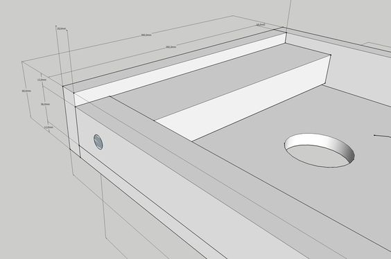 Blinde Wandplank Keuken : Blinde wandplank met verlichting