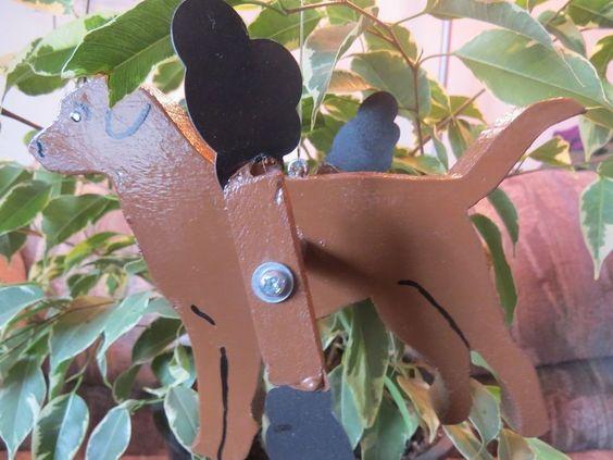 Canada Goose jackets replica price - Whirligig Wind Spinner Chocolate Lab Dog Whirlygig Whirley's Hand Made
