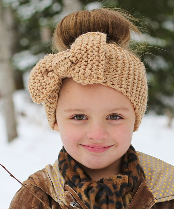 Look at this #zulilyfind! Tan Big Bow Head Wrap by Just Couture #zulilyfinds