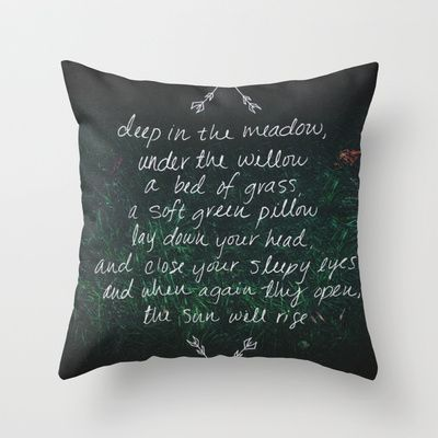 Rue's Song (Hunger Games) Throw Pillow by Leah Flores Designs   Society6