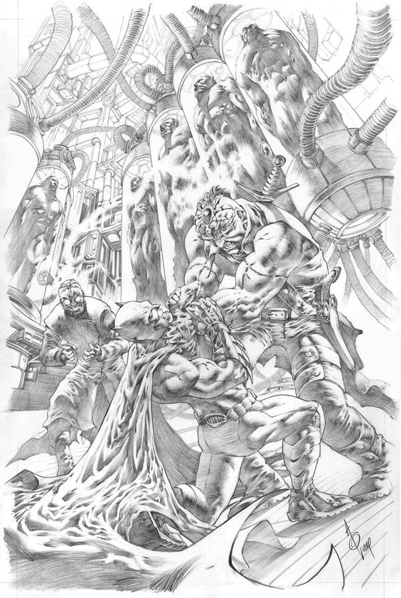 Batman vs. Frankenstein by Alan Quah  Comic Inspiration, Ideen für schwerer Comic bilder. Comic Inspiration, ideas for harder Comic pictures.