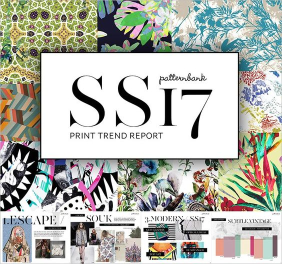 TRENDS / PATTERNBANK . S/S 2017 PRINT AND PATTERN: