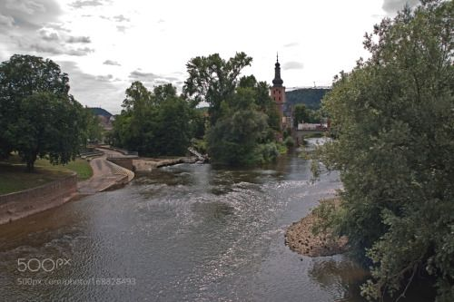 Nahe KH Kirschsteinanlage by PhilippNickerl  Bad Kreuznach River Nahe Kirschsteinanlage Paul church PhilippNickerl