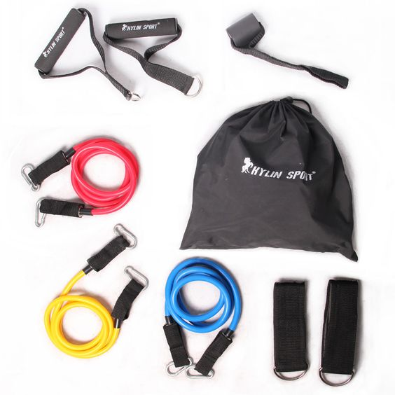 fitness stretch accessories strength resistance training lightweight class 9 sets accessories for wholesale