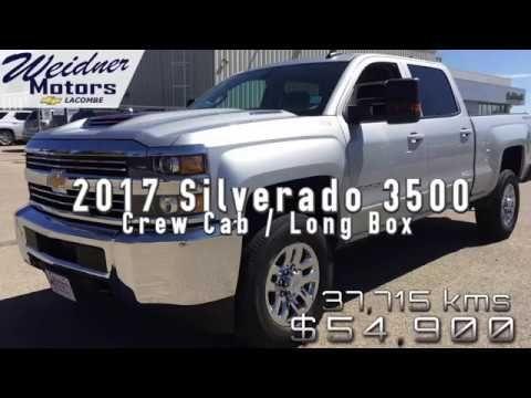 2017 Chevrolet Silverado 3500 Hd 1lt Low Mileage Silver 4x4 Crew Silverado 3500 Chevrolet Silverado Silverado